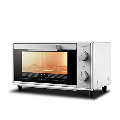 COMFEE  オーブントースター 2枚焼き トースト 1000W 焼き網 トレー 付き 温度調節 タイマー付き 使いやすい 食パン焼き 魚の塩焼き グラタン クッキー作り 幅広いオーブン焼きレシピ対応 高火力 上下ヒーター1年保証CF-BD082