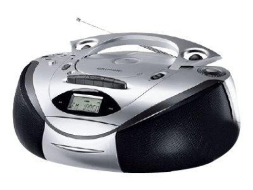 Grundig RR CD 3700 MP3 tragbares Stereoradio (Radio, CD) silber/schwarz