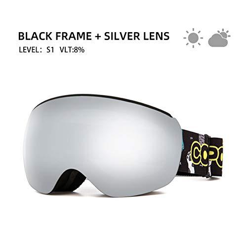 RCFRGV Ski Goggles Magnetic Kids Ski Goggles For Children Uv400 Anti-Fog Mask Glasses Skiing Girls Boys Snowboard Goggles