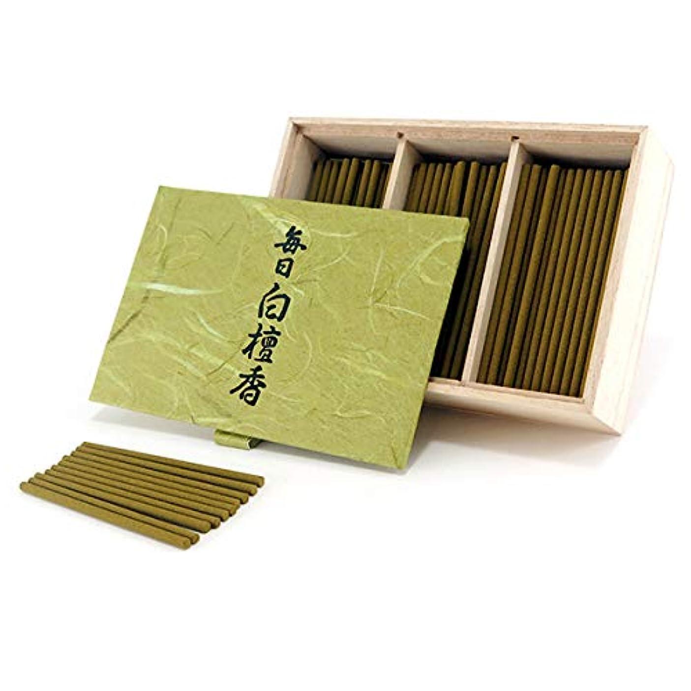 見捨てる説明的提供日本香堂のお香 毎日白檀香 スティックミニ寸お徳用150本入り