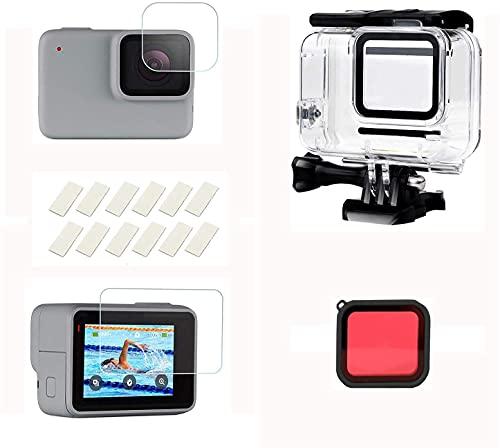 Flycoo2 - Kit de accesorios 16 en 1 para Go Pro Hero 7 (resistente al agua), color blanco y plateado