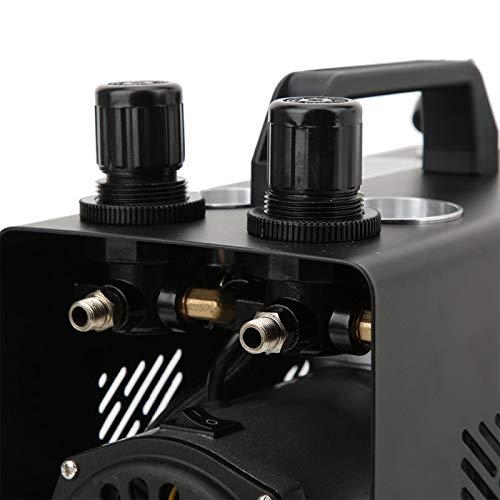 Emoshayoga Compresor de Aire de pistón de un Solo Cilindro Bomba de Aire de 1 / 6HP para Pintura en Aerosol Modelo para creación de Bricolaje(European Standard 220-240V, Pink)