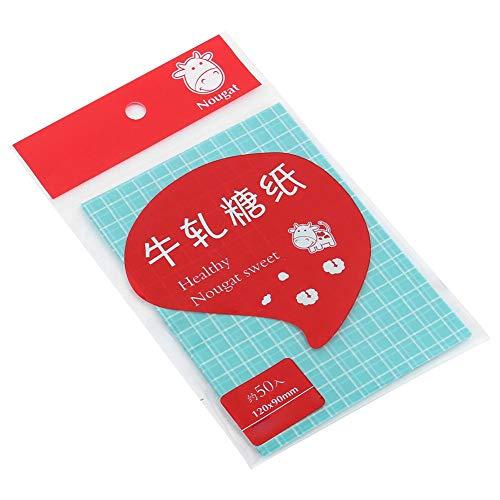 Voedselverpakkingsverpakking, bakken van snoepverpakkingspapier 500 stks keuken DIY voedselverpakking inpakpapier Dessert inpakpapier(Blauw)