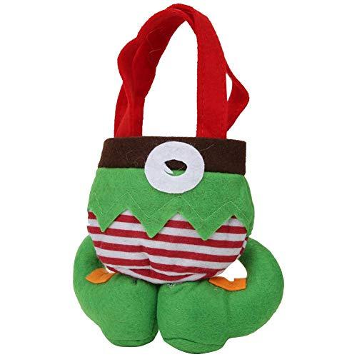 Bolsas de regalo de Navidad, 2 piezas de bolsas de manzanas de caramelo, bolso de fiesta para decoración de Navidad