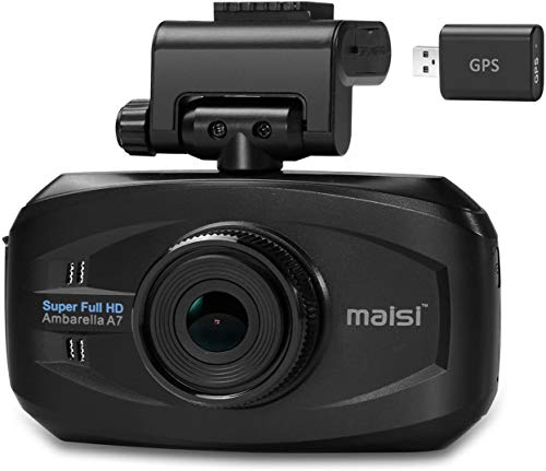 maisi M20 Pro Uber Taxi Dash Cam Infrared Night Vision Full HD Dash Camera (2304*1296 1296p, 170-Degree True Wide Angle, Automatic Ignition/Motion/Crash Detection and Seamless Loop Recording)