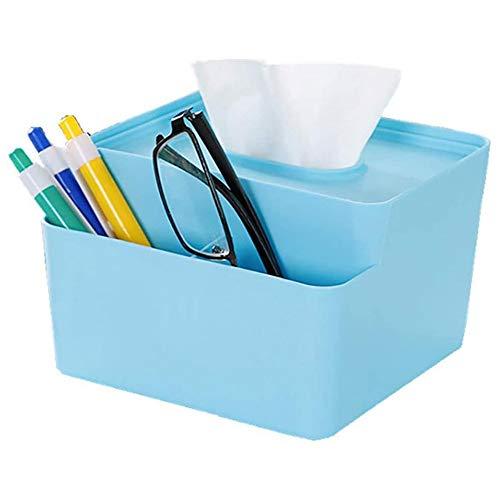 KDEKIFN Caja Organizador Oficina Multifuncional del Escritorio del cojín Tejido Multifuncional Escritorio de Oficina (Color : Blue)