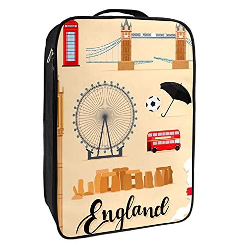 Portascarpe da viaggio e uso quotidiano turistico Inghilterra viaggi London Elements borsa organizer portatile impermeabile fino a 12 metri con doppia cerniera 4 tasche