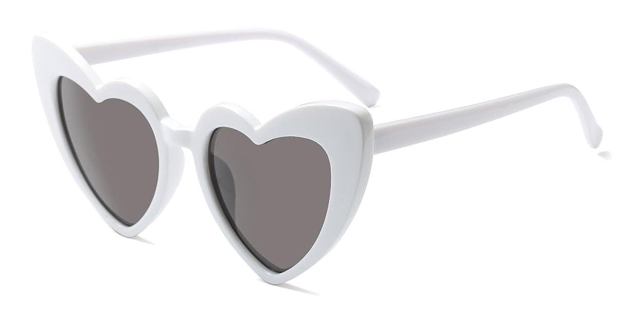 発言する引っ張る能力KINDOYO レディーズ ファッション ハート形 レトロ アイウェア クラシック サングラス
