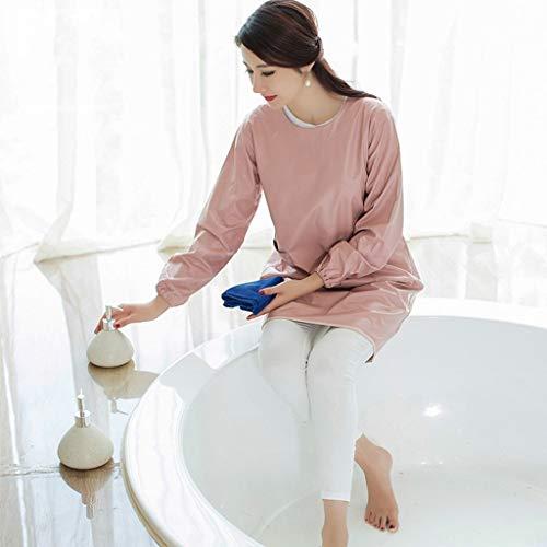 YLCJ Korean Style Fashion waterdichte lange mouwen casual volwassenen werkkleding (kleur: roze)