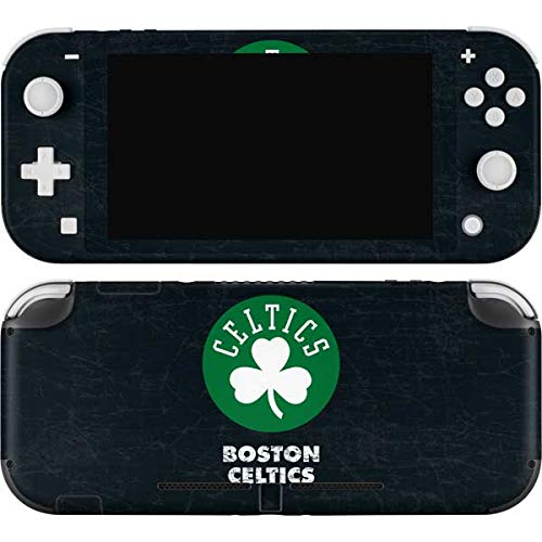 Skinit Decal Gaming Skin Compatible with Nintendo Switch Lite - Officially Licensed NBA Boston Celtics Black Secondary Logo Design