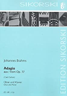 Adagio from op. 77 : for oboe and piano