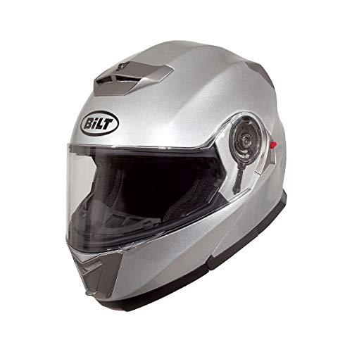 BiLT Evolution Men's Motorcycle Helmet, Silver, SM
