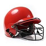 GJB Casco de béisbol cómodo, Transpirable y a Prueba de Golpes, Capucha enmascarada para Proteger el Softball Facial, poliéster, para la protección de Las Orejas y Adultos