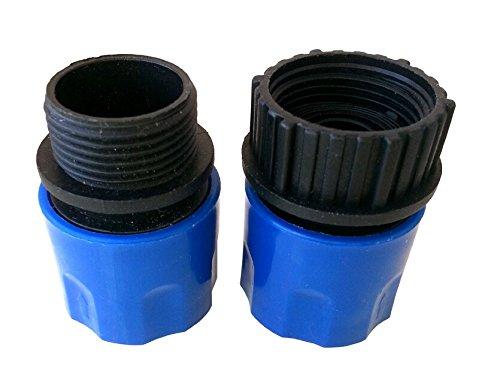 Topways® Electronix erweiterbarer Gartenschlauch Stecker und Buchse Adapter Verbindungsstück Blau