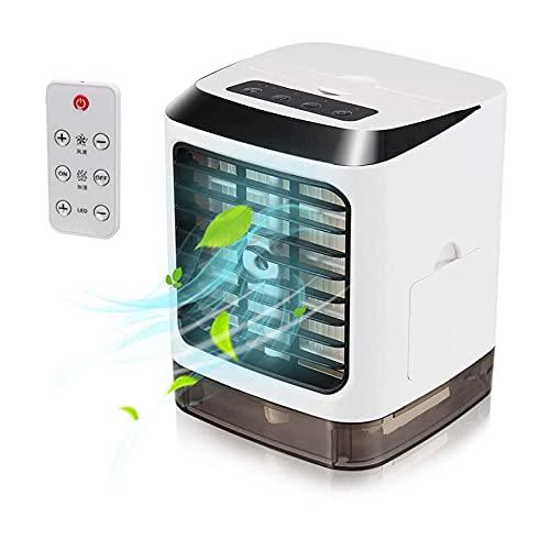 Condizionatore Portatile, 3 velocità Regolabili USB LED Mini Condizionatore per Casa, Camera da Letto, Ufficio, Esterno