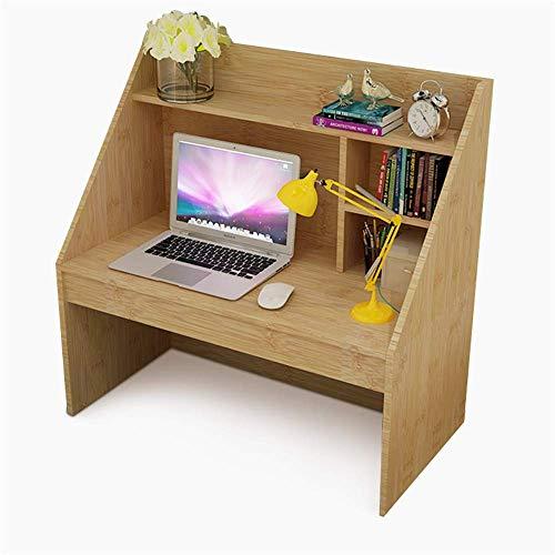 FGDSA Escritorio de computadora Mesa de Estudiante Estilo Vid con estantería de 4 SY 1 cajón Oculto Mesa de Estudio de Escritura para estación de Trabajo para Uso en el hogar Dormitorio
