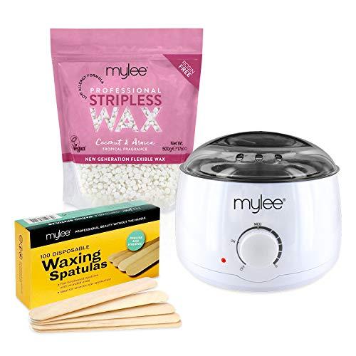 Mylee Professional Waxing Kit with Wax Heater, Hard Wax Beads 500g,...