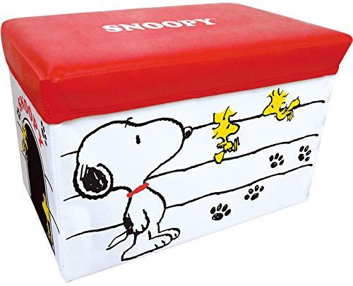 スヌーピー キャラクターストレージボックス 折りたたみ可 ホワイト 012152 48×31×31cm