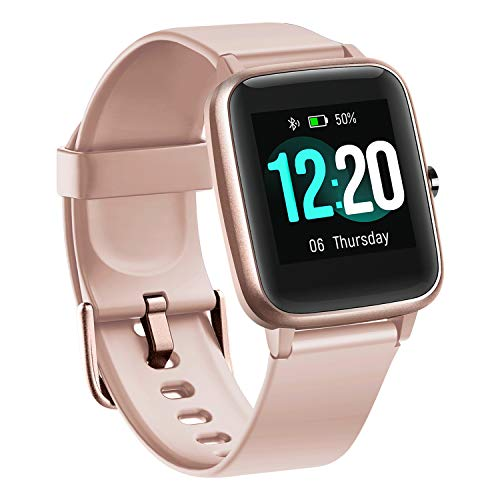 BUDAOLIU Updated Version Smart Watch for Android and iOS Phone,Fitness Tracker with Heart Rate Monitor Pedometer Sleep Tracker,Waterproof Smartwatch Compatible with iPhone Samsung (Pink)