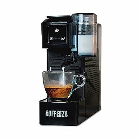 Coffeeza Lattisso One-Touch Cappuccino Coffee Machine (60 FREE assorted capsules included) - Black