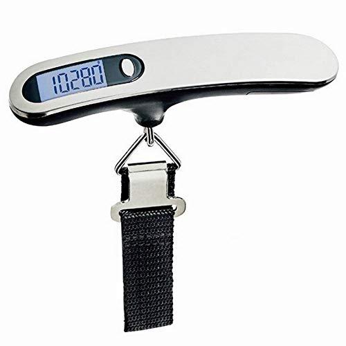 40 kg / 100g Báscula electrónica digital para equipaje LCD Maleta de viaje portátil Báscula de bolsa Báscula colgante Balanza de peso de mano Amarillo