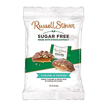 Russell Stover Sugar-Free Crispy Caramels 3 Ounce  Pack of 12