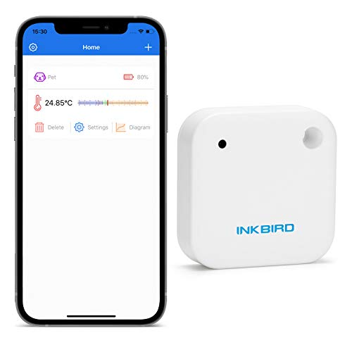 Inkbird IBS-TH2 Bluetooth Thermometer, regensicherer intelligenter Temperatursensor mit Datenexport, Alarm, Grafik, Unterstützung für iOS und Android…
