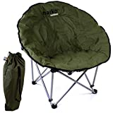 Marko Outdoor Moon Chair Deluxe Folding Padded Outdoor Camping Hiking Fishing Foldable Seats
