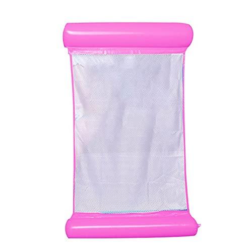 Hamac de Piscine Hamac Gonflable Float Piscine Polyvalente Chaise Longue Chaise de Piscine Confortable Portable (Color : Hot Pink)