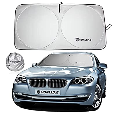 VONLUXE Car Windshield Sunshade-Foldable 240T High Density Car Sunshade for Windshield?Block UV Rays and Sunlight?Insulate The Heat?Keeps Your Cab Cool?Suitable for Most Household Cars.(Small)