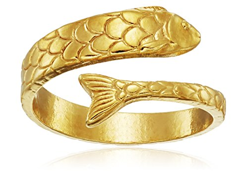 Alex and Ani Ring Wrap, Fish, 14k Gold Plated Stackable Ring, Size 5-7