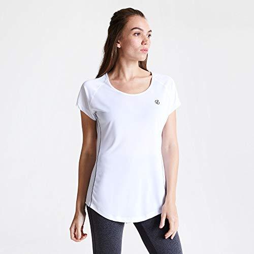 Dare2b DWT506 90008L Corral' Leggero ad Asciugatura Rapida Stretch Active T-Shirt/Poli/Gilet, Bianco, 8