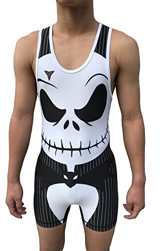 TRI-TITANS Worst Nightmare Wrestling Singlet Youths Children and Mens Sizes (Adult M: 145lbs-165lbs)
