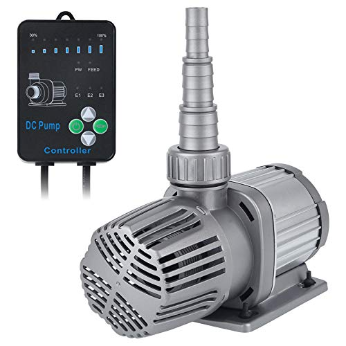 Uniclife 1056 GPH Water Pump 24V DC Quiet Aquarium Return Pump with 30%-100% Settings Controller for Fish Tanks, Ponds, Fountains, Sump, Hydroponics Submersible