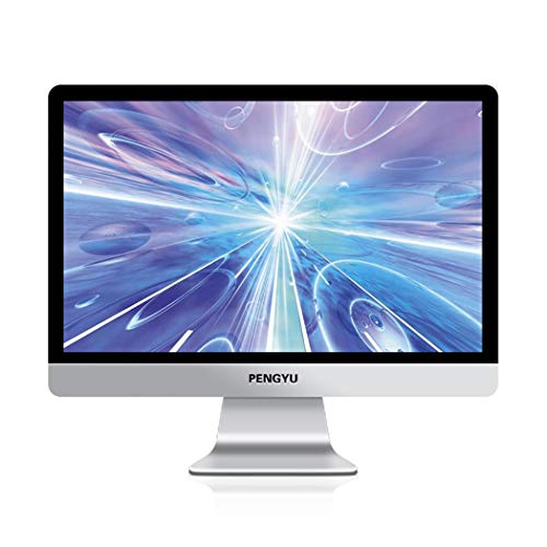 RAPLANC Ultradünner HD-LED-Monitor, VGA-Eingänge, Verstellbarer Ständer, flimmerfreier, dünner Rahmen für EIN optimales Benutzererlebnis,24inch