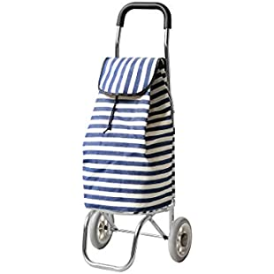 Customer reviews XF Lightweight Aluminum Folding Trolley Luggage Cart With Canvas Bag Grocery Shopping Small Cart