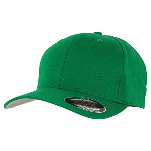 Flexfit Blanko Cap Green Mütze Kappe Schirmmütze - XL/XXL