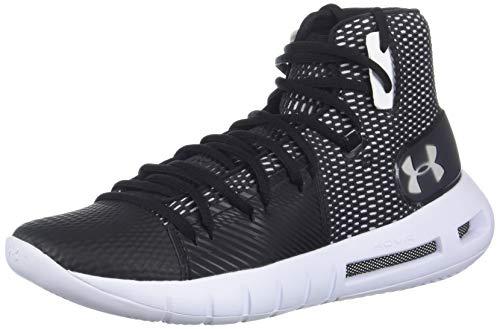 Under Armour Women's Drive 5 Basketball Shoe, Black (001)/White, 6