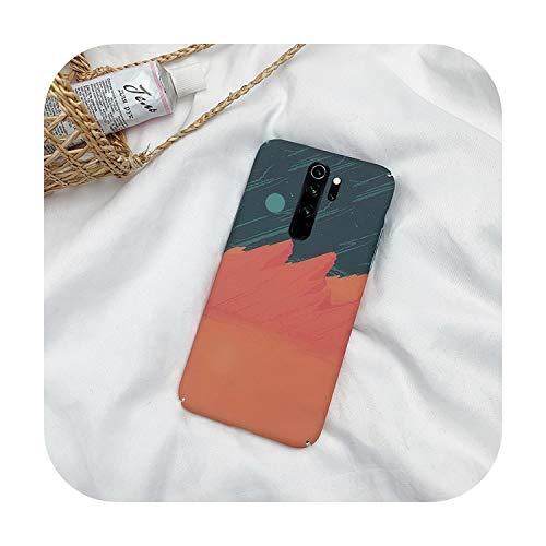 N/A Encre Peinture de Téléphone Case Pour Xiaomi Pour Redmi Note 8 7 K20 Pro Rigide Pc Mat Coque Pour Xiaomi Mi 9 Se 9T Pro A3 8 Lite-T2 Wave-Pour Xiaomi Cc9E