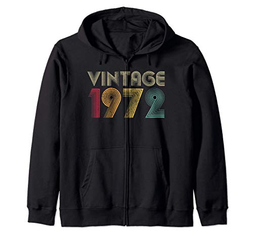 Vintage 1972 49th Birthday Gift 49 Years Old Men Women Retro Sweat à Capuche