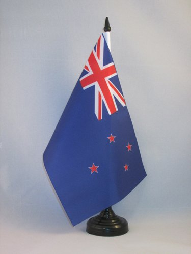 AZ FLAG TISCHFLAGGE NEUSEELAND 21x14cm - NEUSEELÄNDISCHE TISCHFAHNE 14 x 21 cm - flaggen
