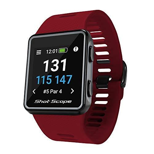 Reloj GPS Shot Scope G3 - F / M / B + Distancias de Peligro - Aplicaciones iOS y Android - Pantalla a Color - Más de 36.000 cursos precargados - Sin suscripciones