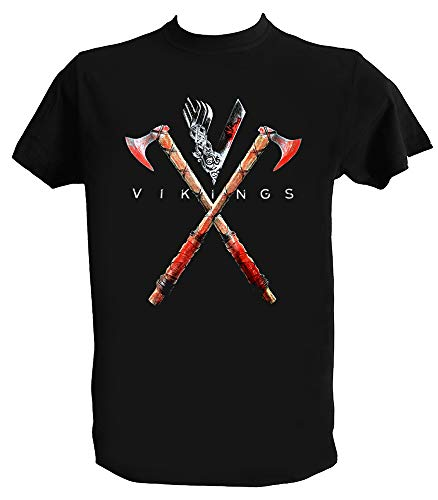 Desconocido Camiseta Vikings Hombre Mujer Niño, Vikingos Serie Ragnar, Serie TV, Hombre - S