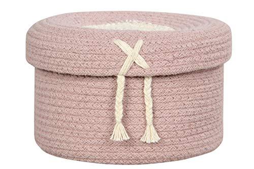 Lorena Canals - Cesta Candy Box Vintage Nude - Rosa Palo, Vainilla - 97% algodón 3% Otras Fibras - Ø20x13 cm