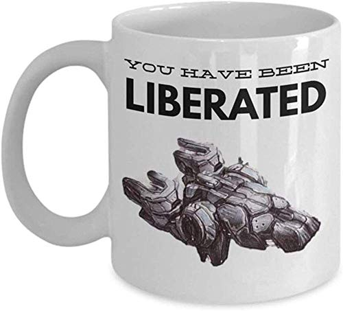 N\A - Starcraft 2 Tassen 'Terran Mug - Du wurdest befreit - Liberator Mug' Einzigartige Gaming-Tasse für Starcraft 2-Fans, Keramik-Kaffeetasse