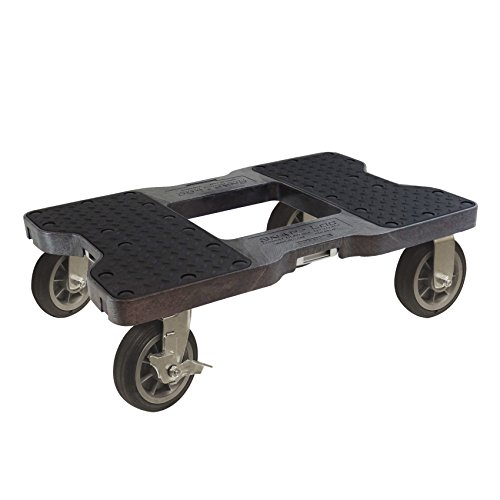 SNAP-LOC 1500 LB All-Terrain Black OPS Dolly (USA!) with Steel Frame, 6 inch Casters and Optional E-Strap Attachment