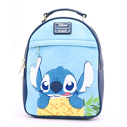 Loungefly: Stitch & Pinneapple Faux Leather Mini Backpack Standard