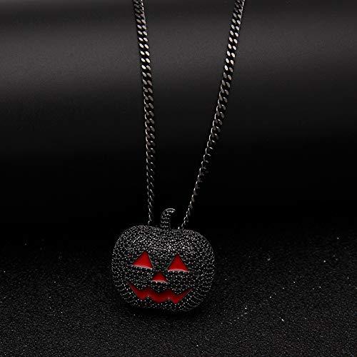 Colgante con diseño de Calabaza de Halloween (Dorado, Negro), Joyas, Regalo, Color, Negro