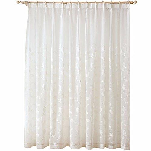 QPGGP Rideaux Tissus À Point De Gaze De Coton Épais Linge De Pur Style Semi - Ombre Rideaux Fenêtre,200 x 270 CM (W x H)× 2