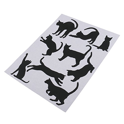 Magideal - Adhesivo decorativo para pared, diseño de silueta de gato